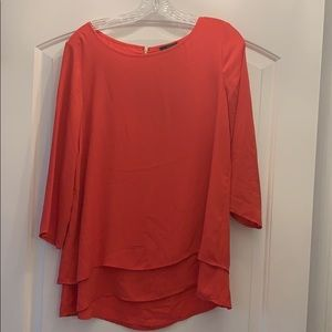 Coral blouse. Great for work!